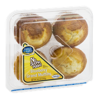 Hill & Valley Blueberry Grand Muffins No Sugar Added - 4 CT