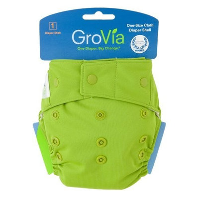GroVia Hybrid Snap Shell Diaper, Cloud, One Size (Discontinued by Manufacturer)