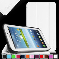 Fintie Samsung Galaxy Tab 3 7.0 Case Cover - Ultra Slim Lightweight Stand Smart Shell, White