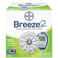 Ascensia Bayer Breeze2 Blood Glucose, 100 Test Strips
