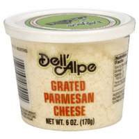 Dell' Alpe Grated Dried Parmesan Cheese, 6-Ounce (Pack of 6)
