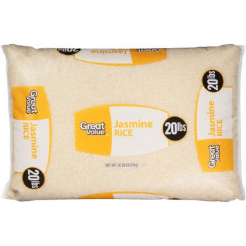 Wal-mart Stores, Inc. Great Value Jasmine Rice, 20 lbs
