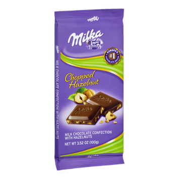 Milka Milk Chocolate with Chopped Hazelnuts Confection