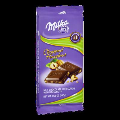 Milka Milk Chocolate with Chopped Hazelnuts Confection