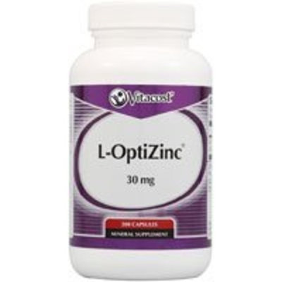 Vitacost Brand Vitacost L-OptiZinc -- 30 mg - 200 Capsules