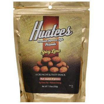 Huatees Spicy Lime Peanuts, 7.05 oz, (Pack of 6)