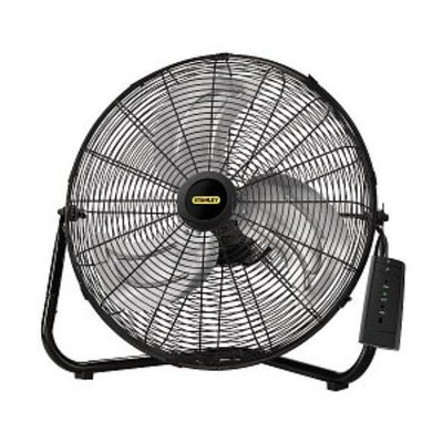 Lasko 655650 Stanley Remote Control 20 in High Velocity Floor Fan Quickmount, Black, 1 ea