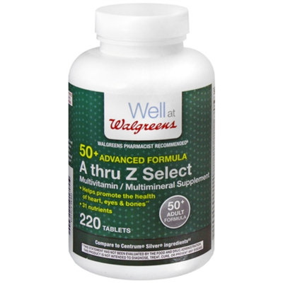Walgreens A Thru Z Select Multivitamin/Multimineral Supplement Tablets