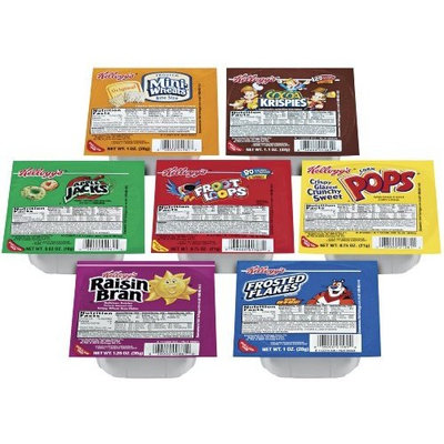Kellogg's Cereal Favorites Variety Pack, Single Serve Bowls
