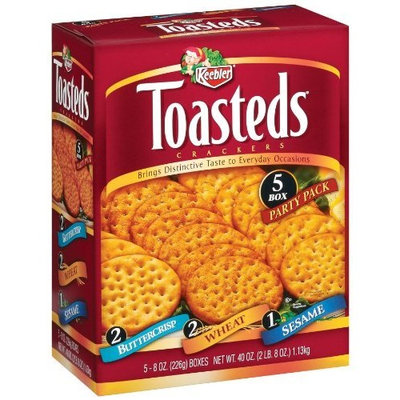 Keebler Toasted Crackers, Three Assorted Flavors (8-Ounce each), 40-Ounce Box