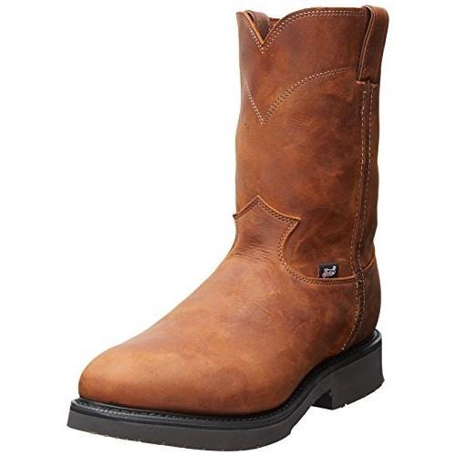 Justin Boots Justin Men's Original Work Boot Steel Toe [Aged Bark, 11.5 D(M) US]