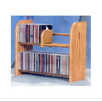 Wood Shed 2 Row Dowel CD Rack (Dark)