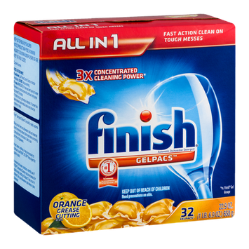 Finish Gelpacs Automatic Dishwasher Detergent - 32 CT