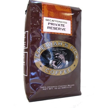 Jeremiah's Pick Coffee Private Reserve Decaf Whole Bean Coffee, 10-Ounce Bags (Pack of 3)