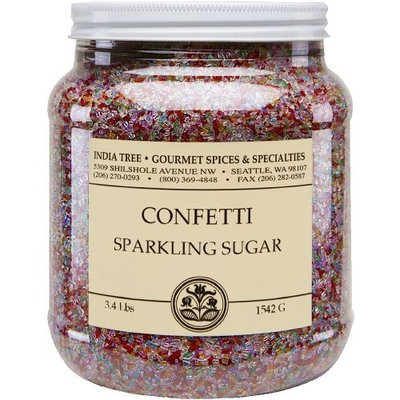 India Tree Confetti Sparkling Sugar, 3.4 lb (Pack of 2)
