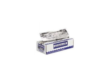 Boardwalk Pop-Up Aluminum Foil Wrap Sheets 10 3/4 x 12 Silver 500/Box 6 Box/Carton (Boardwalk BWK 7168)