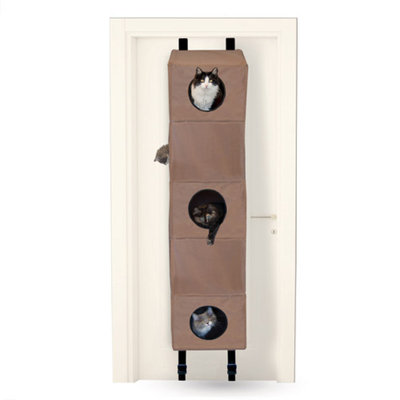 K & H Manufacturing Hangin Cat Condo, Large, Tan, 1 ea