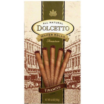Dolcetto Tiramisu Dolcetto Wafer Rolls, 4.4 oz (Pack of 12)