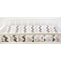 My Baby Sam Chevron in Pink/Gray Changing Pad Cover