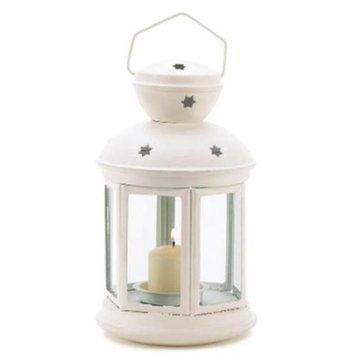 Zingz & Thingz 57070773 White Colonial Candle Lamp