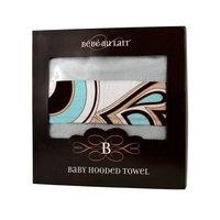 Bebe au Lait Hooded Towel, Mint Chocolate, Baby