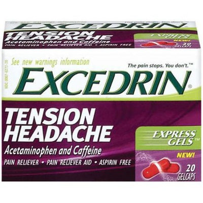 Excedrin Tension Headache Excedrin: Tension Headache Aspirin Free Gelcaps Pain Reliever, 20 Ct
