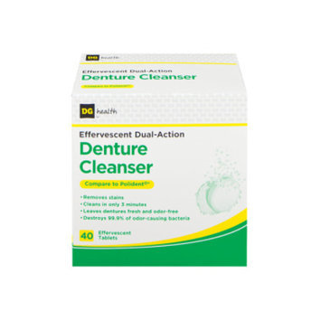 DG Health Effervescent Dual-Action Denture Cleanser Tablets - 40 ct