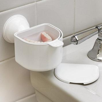 Mommy's Helper Inc. Denture Bath Suction Cup False Teeth Soaking Bathroom Dental Oral Hygiene
