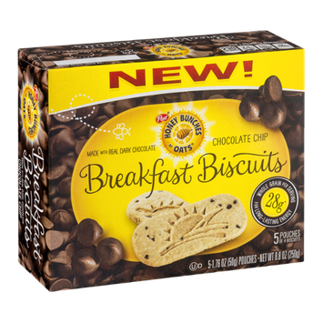 Honey Bunches Of Oats Breakfast Biscuits Chocolate Chip (Discontinued)