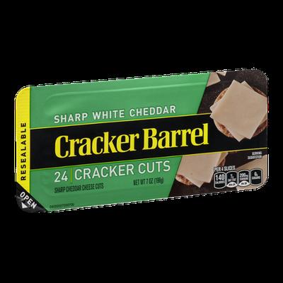 Cracker Barrel Cracker Cuts Sharp White Cheddar - 24 CT