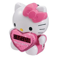 Ima Hong Kong Hello Kitty AM/FM Projection Clock Radio with Battery Back-up