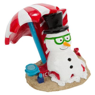 Top FinA PetHoliday Melting Snowman Aquarium Ornament