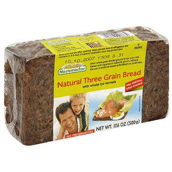 Mestemacher Natural Three Grain Bread, 17.6 oz (Pack of 12)
