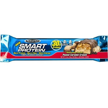 Muscletech Smart Protein Bar, Peanut Caramel Crunch (Pack of 6)