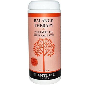 Plantlife Natural Body Care - Balance Therapeutic Mineral Bath Salt 16oz, 16 oz salt