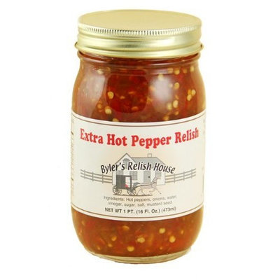 Byler's Relish House Homemade Amish Country Extra Hot Pepper Relish 16 oz.