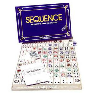 Sequence Deluxe Edition Board Game Ages 7+, 1 ea
