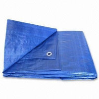 Haolam 12X25 Blue Tarp Tarpaulin Canopy Tent, Boat. RV or Pool Cover
