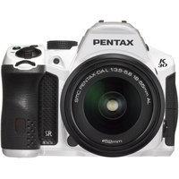 Pentax K-30 Digital SLR Camera - Lens Kit White w DA 18-55 WR
