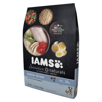 IAMS Iams Sensitive Naturals Ocean Fish & Rice Recipe Dry Dog Food 17.2 lbs