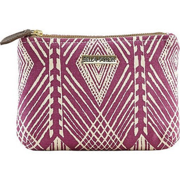 Bella Taylor Tahiti Fuchsia Personal Pouch Set of 2 Cosmetic Case Makeup Bag Travel 6.25x9x5 And 5x7x5