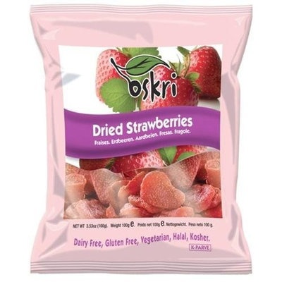 Oskri Dried Strawberries, 3.5 oz