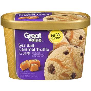 Great Value Sea Salt Caramel Truffle Ice Cream, 48 fl oz
