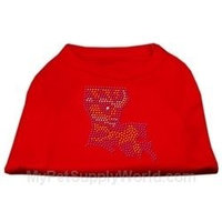 Mirage Pet Products 5244 MDRD Louisiana Rhinestone Shirts Red M 12