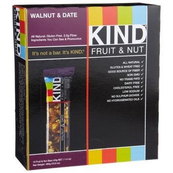 KIND Fruit & Nut, Walnut & Date, All Natural, Gluten Free Bars
