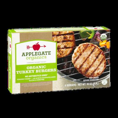 Applegate Organics Turkey Burgers - 4 CT