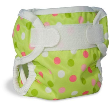 Bummis Super Brite Diaper Cover, Pistachio Dot, Medium