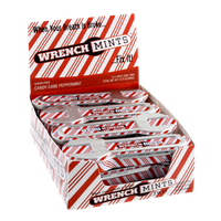 Wrench Mints Sugar-Free Candy Cane Peppermint Flavor