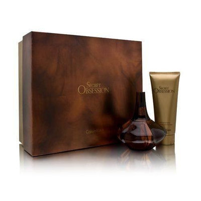 Secret Obsession by Calvin Klein for Women 2 Piece Set Includes: 3.4 oz Eau de Parfum Spray + 3.4 oz Satin Body Lotion