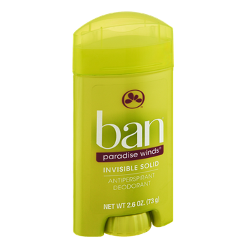 Ban Invisible Solid Paradise Winds Antiperspirant Deodorant